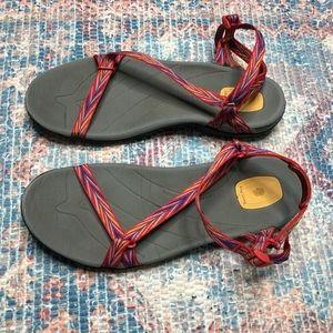 Teva Zirra Red Anatomic Footbed Sandals